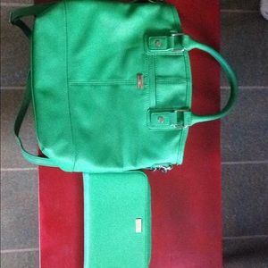 Emerald green jewell by 31 purse and wallet
